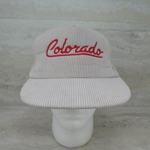 Vintage Colorado Embroidered Corduroy Snapback Hat
